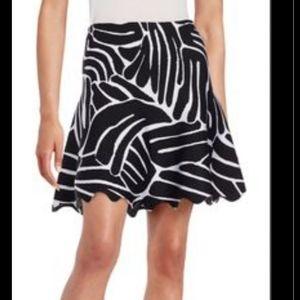 ISSA Winifred Zebra Flare Miniskirt Sz M